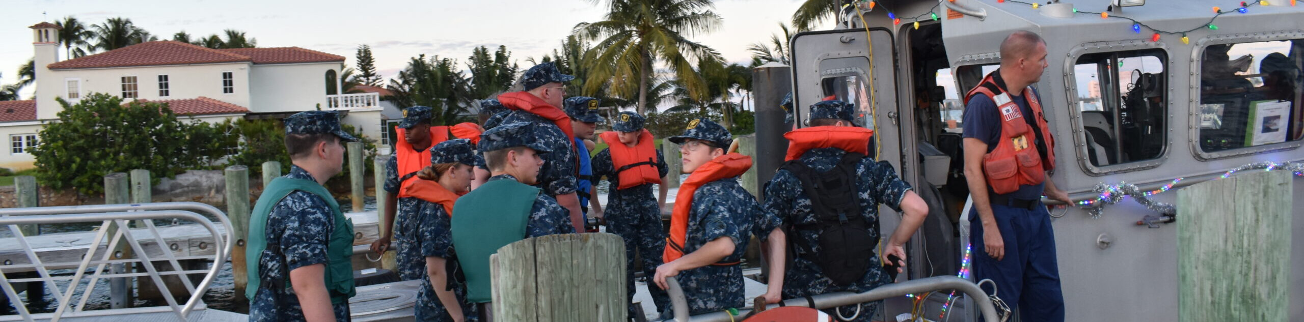 Cadets prepare for navigation training with Coast Guard